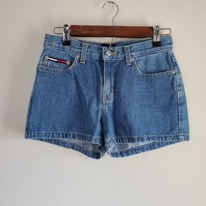 Tommy hilfiger jean shorts high waisted size 1